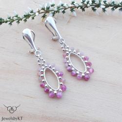 lekkie,klipsy srebrne,geometryczne,JewelsbyKT - Klipsy - Biżuteria