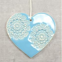 serce,zawieszka,folk,rustic - Ceramika i szkło - Wyposażenie wnętrz