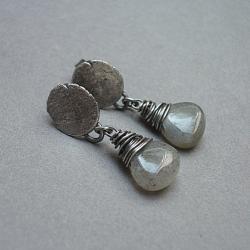 kamienie,minerały,surowe - Kolczyki - Biżuteria