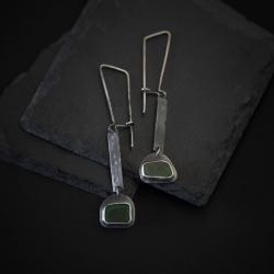 długie srebrne kolczyki - Kolczyki - Biżuteria