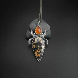 jaspis Maligano,unikatowy wisior fiann - Wisiory - Biżuteria