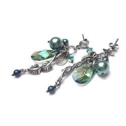 gronka,natura,eleganckie,wiszące - Kolczyki - Biżuteria