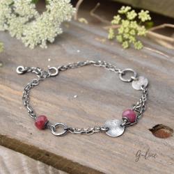 Delikatna,surowa,rubin - Bransoletki - Biżuteria
