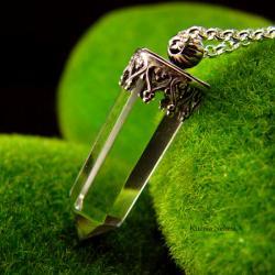 nehesi,naszyjnik,srebrny,wisior,kwarcem,górskim - Naszyjniki - Biżuteria