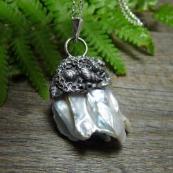 srebro,muszle,morskie,marynistyczne,morze - Naszyjniki - Biżuteria