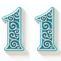 cyfra,numer mieszkania,numer domu,na drzwi - Ceramika i szkło - Wyposażenie wnętrz