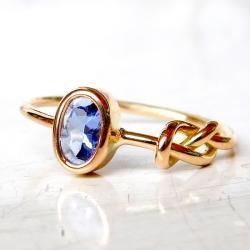 pierścionek z tanzanitem, - Pierścionki - Biżuteria