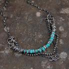 Naszyjniki srebrny naszyjnik z turkusem