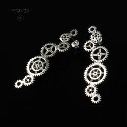 kolczyki,trybiki,długie,srebro - Kolczyki - Biżuteria