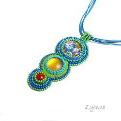 wesoły,kolorowy,wiosenny,letni,naszyjnik - Naszyjniki - Biżuteria