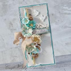 ślub,kwiat,gołąbki,ptaszki,w dniu ślubu,kartka - Kartki okolicznościowe - Akcesoria