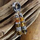 Kolczyki kolczyki z bursztynami,surowa biżuteria damska
