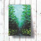 Obrazy las,ścieżka,natura,akryl,płótno