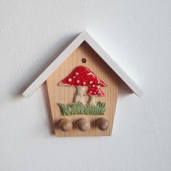 domek na klucze,grzyby,muchomor,grzybki - Ceramika i szkło - Wyposażenie wnętrz