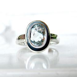 pierścionek,akwamaryn, - Pierścionki - Biżuteria
