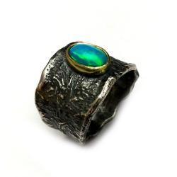 opal,zloty,złoto,blask,tęczowy,rainbow,srebro, - Pierścionki - Biżuteria