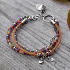 Bransoletki z kamieni,jesienna,kolorowa,