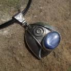 Wisiory srebrny wisior z kyanitem