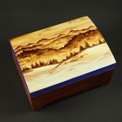 góry,szkatułka,wypalanie - Pudełka - Wyposażenie wnętrz
