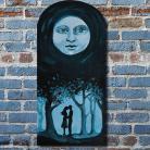 Obrazy księżyc,noc,miłość,prezent,drzewa
