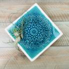 Ceramika i szkło koronka,ceramika,talerz,patera,turkusowe