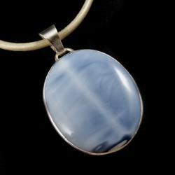 opal,błękit,szary,srebrny,klasyczny,retro - Wisiory - Biżuteria