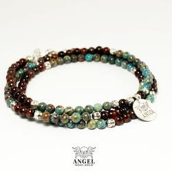 koraliki,bransoleta męska,kolorowa biżuteria - Dla mężczyzn - Biżuteria