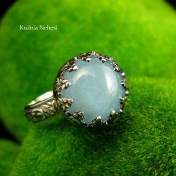 nehesi,pierścionek,srebrny,pierscionek,akwamarynem - Pierścionki - Biżuteria