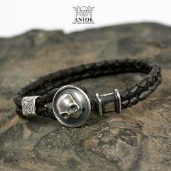bransoleta męska z czaszką,męska biżuteria - Dla mężczyzn - Biżuteria