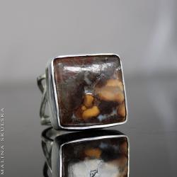 okazały,jaspis,ażurowy,regulowany - Pierścionki - Biżuteria