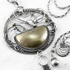 Naszyjniki srebrny,naszyjnik,wire-wrapping,piryt,złoty,ciba