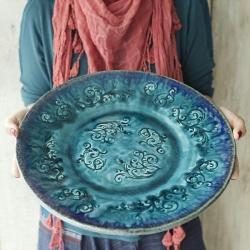 ceramika,patera,talerz,wzór - Ceramika i szkło - Wyposażenie wnętrz