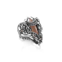 magiczny pierścień,biżuteria elficka,litori - Pierścionki - Biżuteria