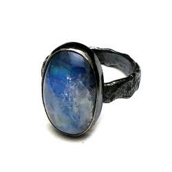 księżycowy,złocisty,poswiata,blask,srebrne,szarość - Pierścionki - Biżuteria