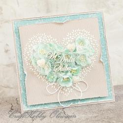 ślub,serce,róże,kwiaty,ślubna kartka - Kartki okolicznościowe - Akcesoria