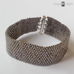 bransoletka,pasek,srebrny,na magnes - Bransoletki - Biżuteria