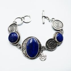 Bransoleta z lapis lazuli - Bransoletki - Biżuteria