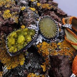 aillilstudio,roślinny,wiosenny,organiczny - Naszyjniki - Biżuteria