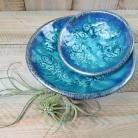 Ceramika i szkło ceramika,miski,komplet,turkusowe