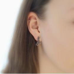 kolczyki,dla niej,prezent,plastry,miodu,szare, - Kolczyki - Biżuteria