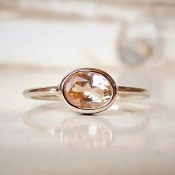pierścionek,morganit, - Pierścionki - Biżuteria