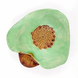 misa ceramika recznie lepiona mięta - Ceramika i szkło - Wyposażenie wnętrz