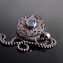 naszyjnik,opal,srebro - Naszyjniki - Biżuteria