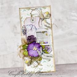kartka,życzenia,na każdą okazję,kwiaty,lampion - Kartki okolicznościowe - Akcesoria