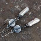 Kolczyki srebrne kolczyki z perłami