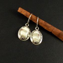 srebrne kolczyki z agatami - Kolczyki - Biżuteria