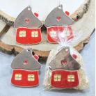 Ceramika i szkło domek,ozdoba choinkowa,zawieszka