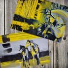 Ilustracje, rysunki, fotografia koń,dynamiczne,abstrakcja,nowoczesne,energia