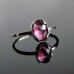 pierścionek,srebro,turmalin - Pierścionki - Biżuteria