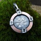 Wisiory kompas,róża wiatrów,amulet,talizman,